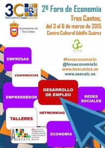 Cartel del II Foro Economía de Tres Cantos