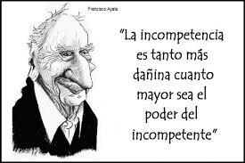 Imagen frase: La incompetencia y el poder